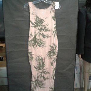 Maternity Printed Sleeveless Essential Knit Dress